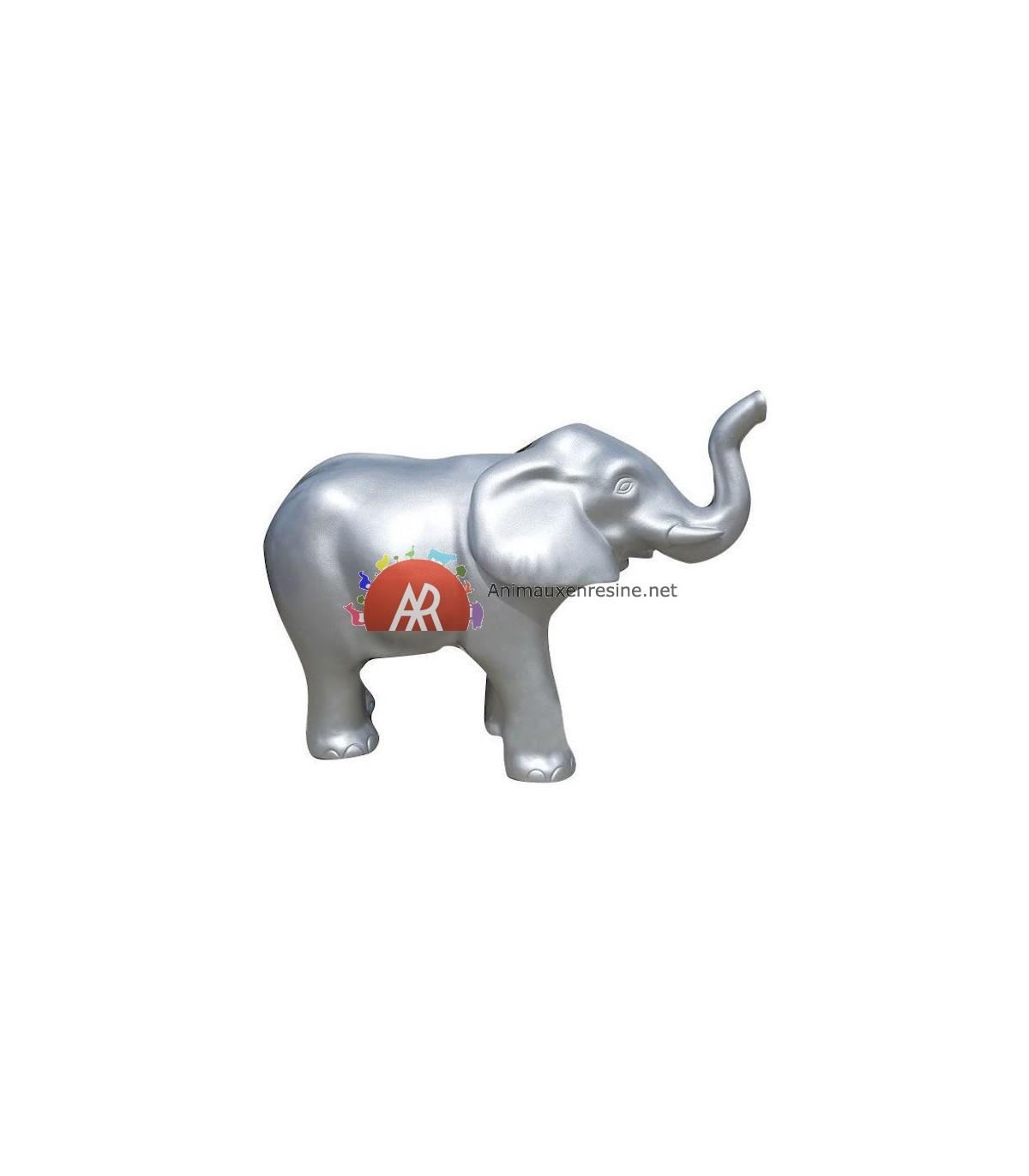 statue pour jardin elephant trompe relevee moyen mod le en r sine animauxenresine net. Black Bedroom Furniture Sets. Home Design Ideas