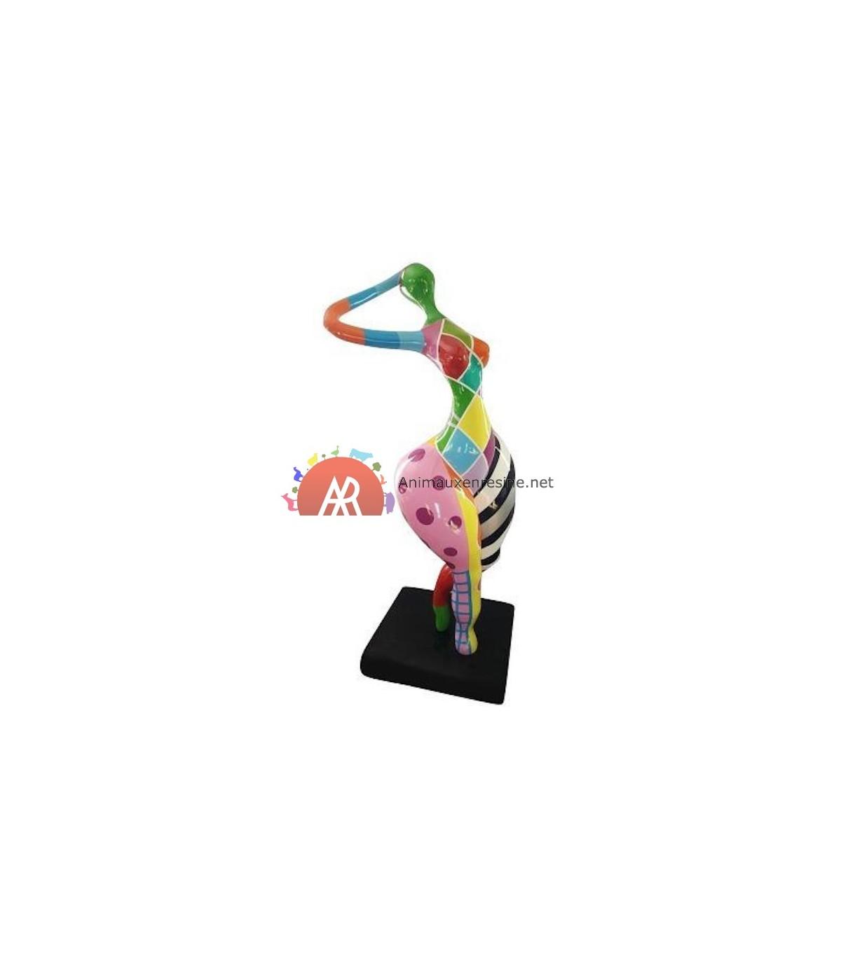 Sculpture Femme Ronde Colorée sculpture grosse femme moyen modèle design baba 1 | animauxenresine