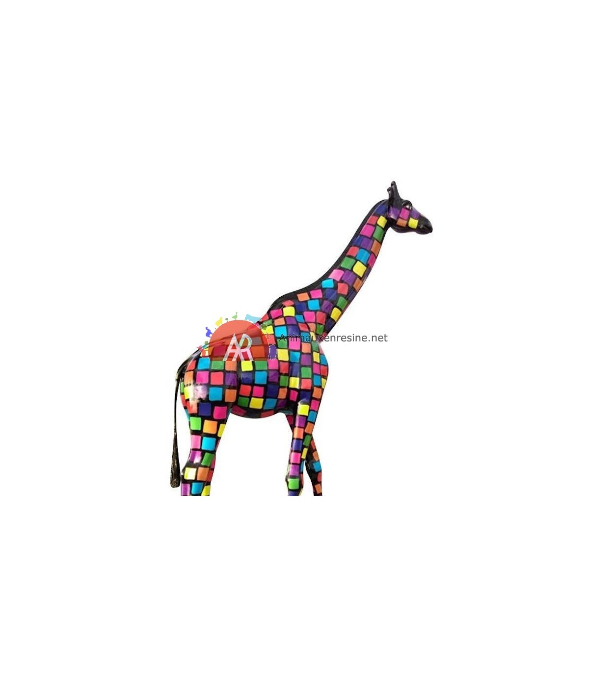 statue design xxl girafe en r sine smartie animauxenresine net. Black Bedroom Furniture Sets. Home Design Ideas