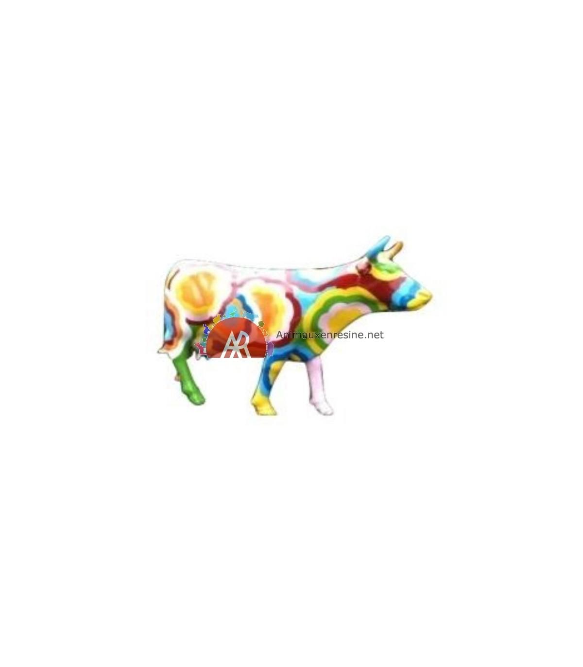 Vache Deco Couleurs Xxl En Résine Animauxenresinenet