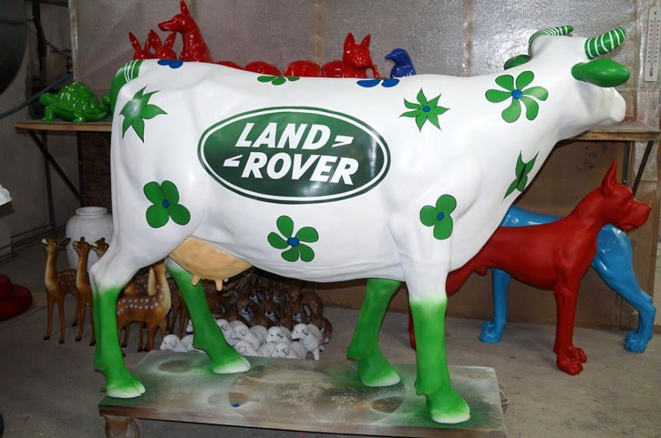 Vache avec logo personnalisé